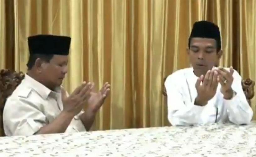 UAS doakan Prabowo