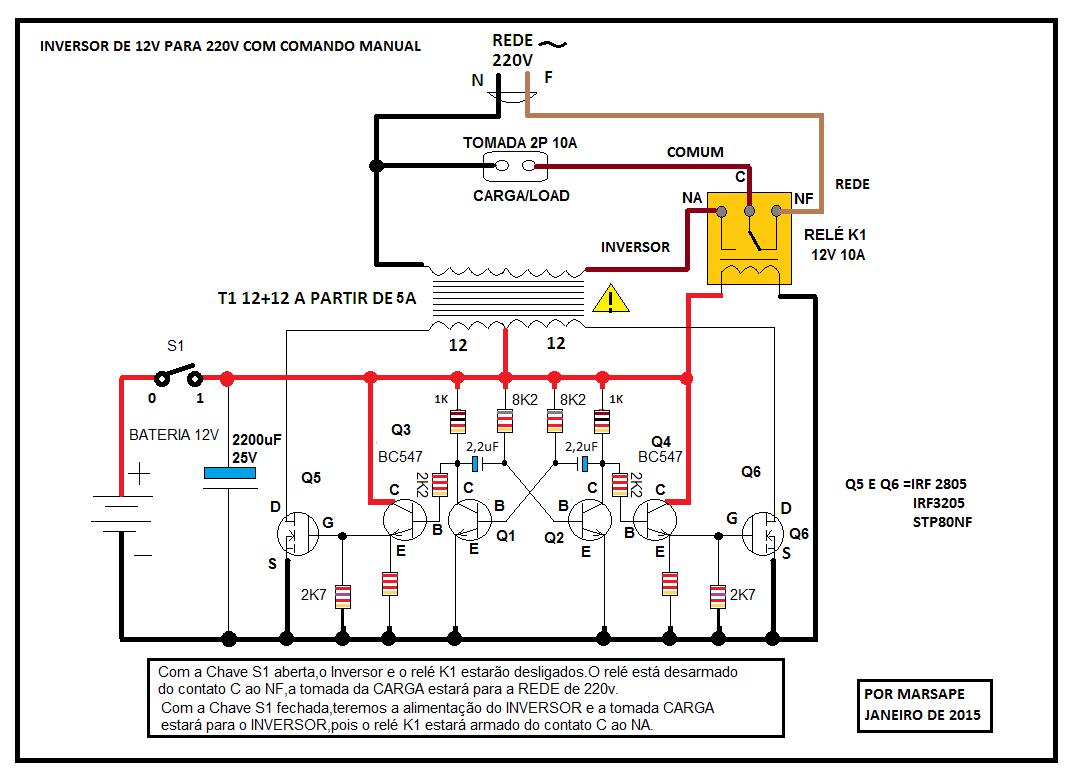 marsape eletr nica inversor de 12v para 220v