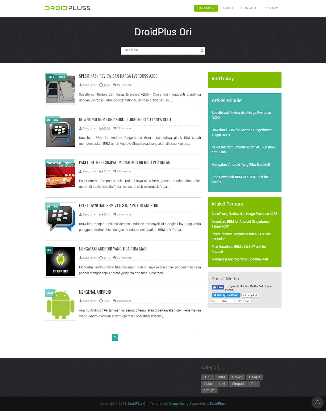 Droid Plus Responsive Blogger Template Valid Html 5 And Css3 Zona