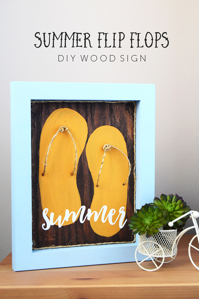 Summer Flip Flops Sign at Crafts Unleashed