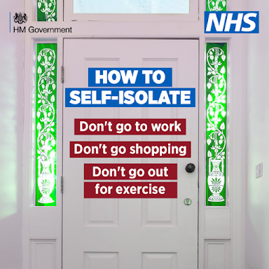 How to self-isolate UK Government advice