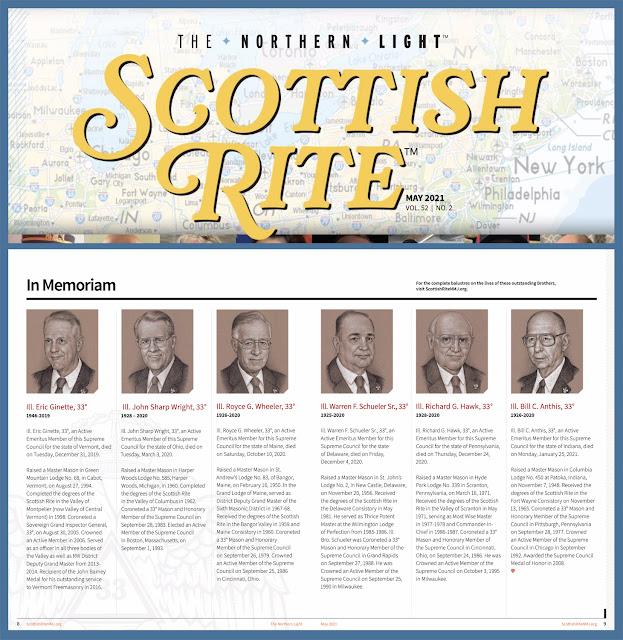 The Northern Light. Scottish Rite, NMJ. Supreme Council, 33°. Memorial Portraits by Travis Simpkins