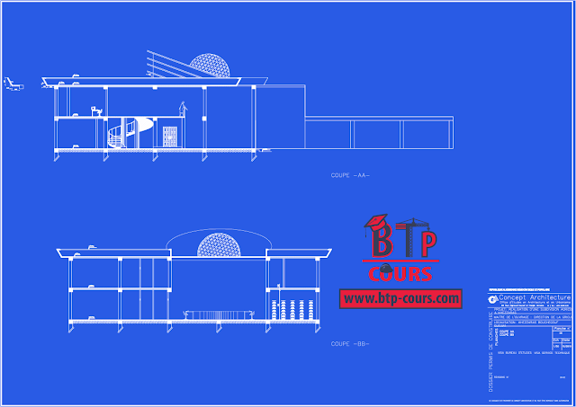 Elevation D Un Plan Archi : Plan b a et archi n° btp cours architecture