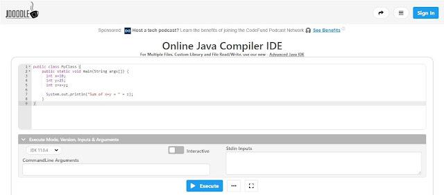 JDoodle Online Java Compiler
