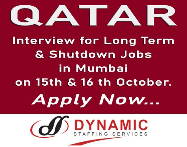 Dynamic Staffing Services, Qatar Jobs, Oil & Gas Jobs, Shutdown Jobs, Instrument Supervisor, Instrument Technician, Mechanical Foreman, Rigging Supervisor, Mechanical Fitter,