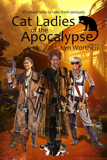 cat ladies book cover - badass post apocalyptic and dystopian heroines in regalia