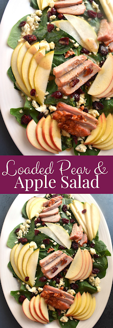 Loaded Pear and Apple Salad recipe