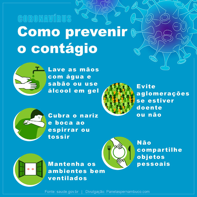 Hábitos para prevenir o contágio por coronavírus