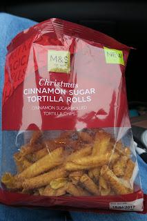 marks and spencer christmas cinnamon sugar tortilla rolls