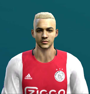 Ziyech Face and Hair 2019 For PES 2013 by TM Facemaker