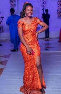Orange/Burnt Orange Colour Aso Ebi Lace Styles