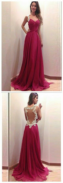 Red prom party dress