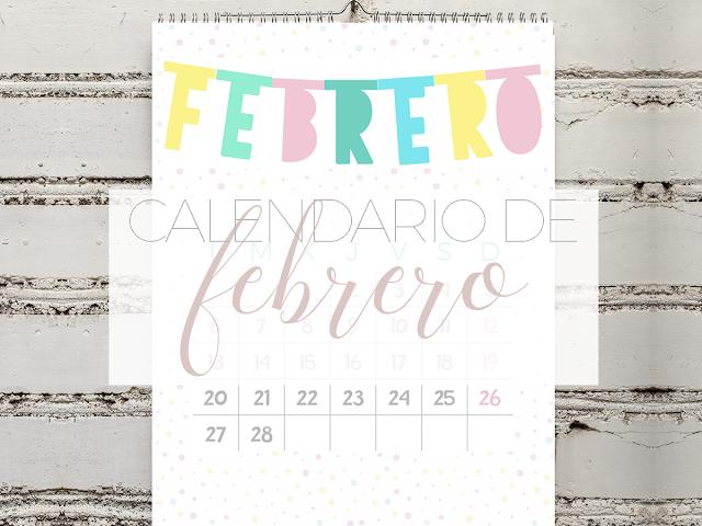 Calendario imprimible de febrero