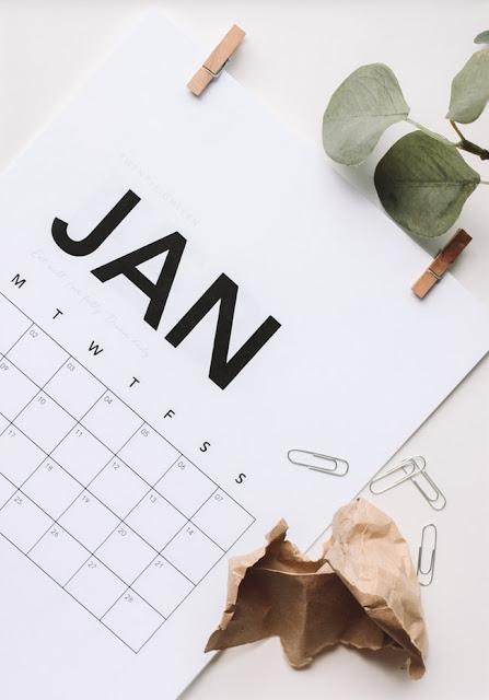 January calendar image via unsplash.com