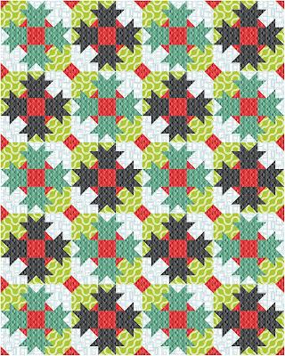Dazzle quilt lap quilt Good Vibes fabric