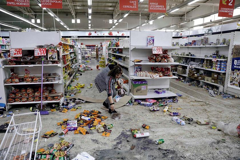 Розграбований супермаркет