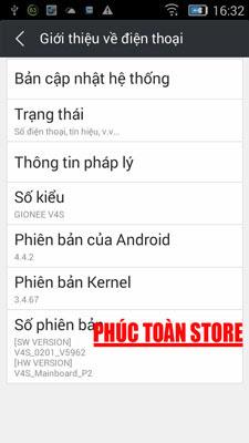 Tiếng Việt Gionee V4S 4.4.2 alt