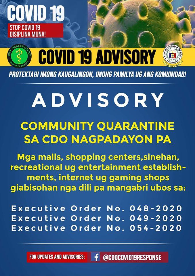 Community Quarantine in CDO Nagpadayon pa!