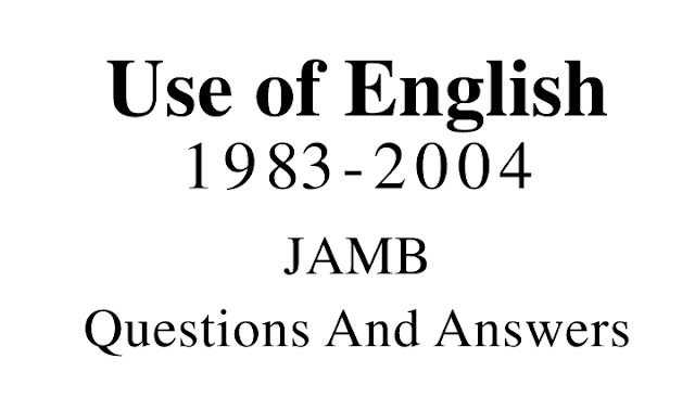 Download JAMB Use Of English Pastquestions: Learningground