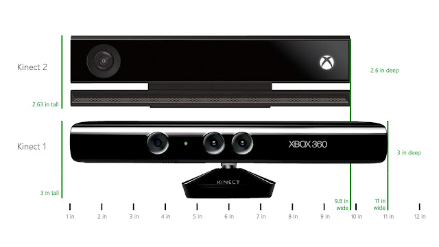 xbox kinect 360 version 1 and version 2 comparison