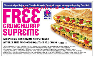 Taco Bell coupons december