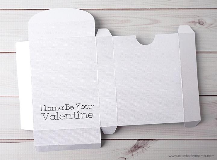 Llama Valentine Treat Boxes