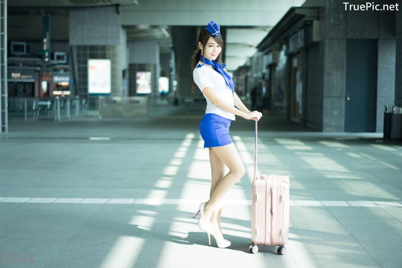 Image-Taiwan-Social-Celebrity-Sun-Hui-Tong-孫卉彤-Stewardess-High-speed-Railway-TruePic.net- Picture-5