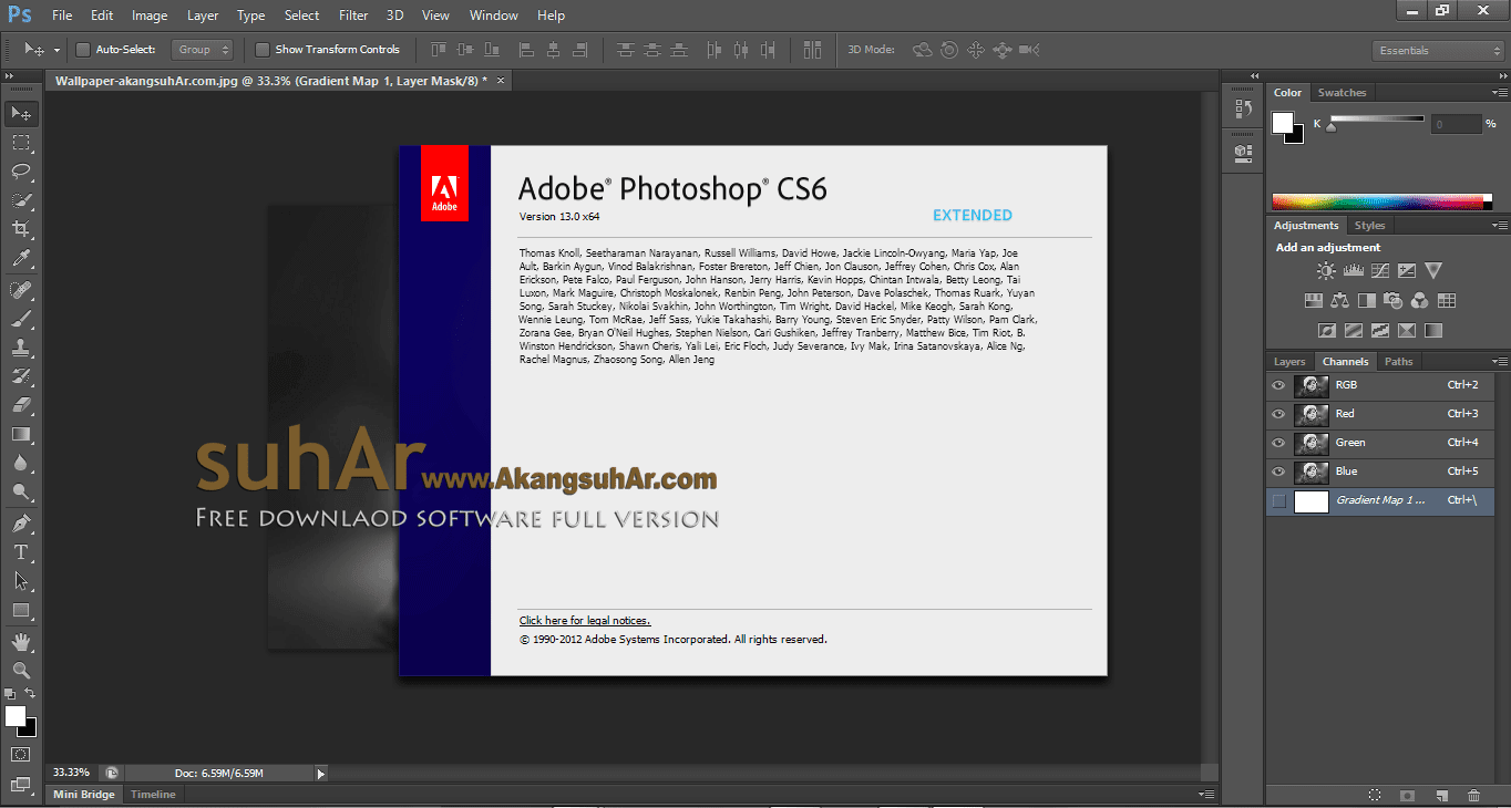 Gratis Download Adobe Photoshop CS6 Extended Full Crack Terbaru, Adobe Photoshop CS6 Full Keygen, Adobe Photoshop CS6 Full Patch, Adobe Photoshop CS6 Activation Code, Adobe Photoshop CS6 Registration Code, Adobe Photoshop CS6 Final Latest Version, Adobe Photoshop CS6 Offline Installer