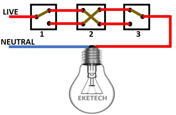 Intermediate Switch Connection And Wiring Diagram
