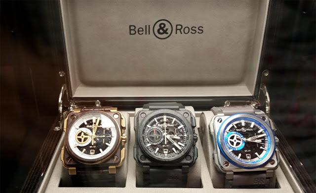 3 Bell & Ross Uhren in der Verpackung auf der Munichtime 2016