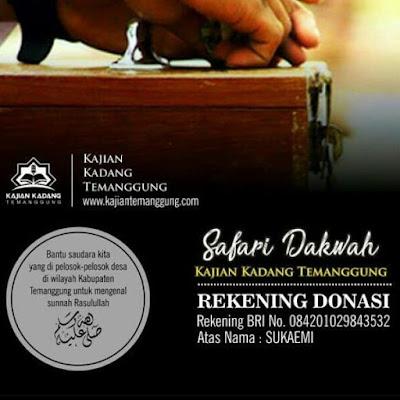 Bantu saudara-saudara kita di pelosok-pelosok Temanggung untuk mengenal Sunnah Rasulullah bersama Kajian Kadang Temanggung