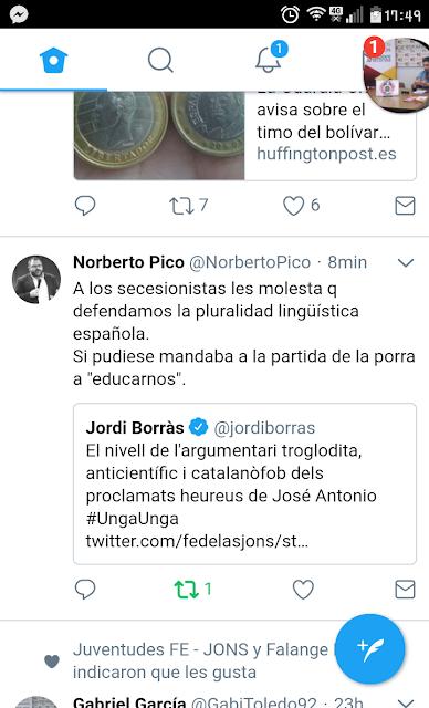 Norberto Pico , secesionistas, pluralidad lingüística, twitter