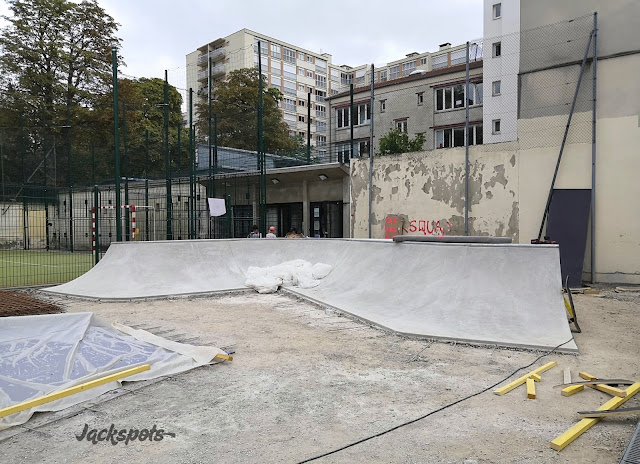 Travaux skatepark Emile Lepeu Paris 2019