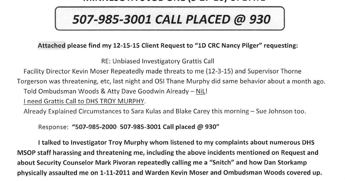 Please Help Chris Krych, an American Citizen!: MN-MSOP ASSHOLES