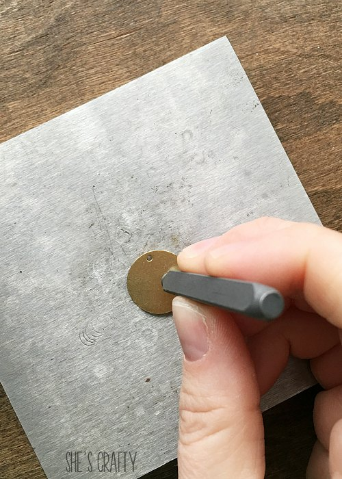 How to stamp letters onto metal for a necklace charm