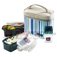 Lock & Lock Lunch Box Set 3 pcs - HPL762RB