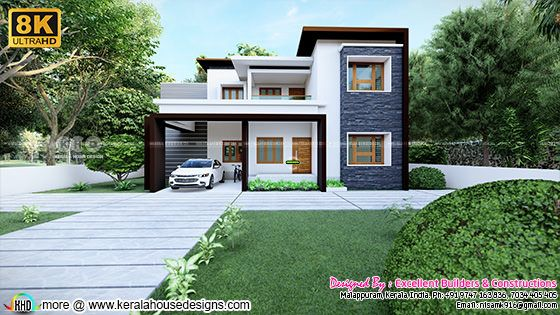 Ultra HD 8K house design by Excellent builders, Kerala
