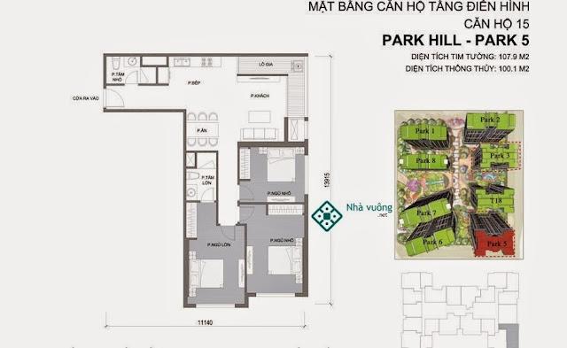 Căn hộ số 15 Times City Park Hill 5