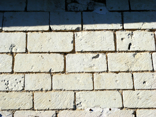 Cut stones showing masons marks. Indre et Loire. France. Photo by Loire Valley Time Travel.