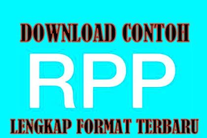 Download Contoh RPP Untuk SD/MI Kurikulum 2013 Terbaru 2019/2020