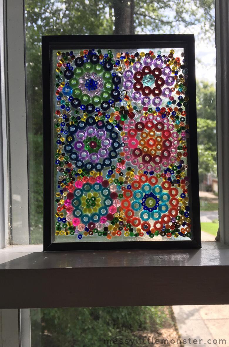 Kandinsky Circles Bead Suncatcher Craft for Kids