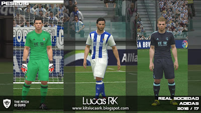 PES 2016 Real Sociedad 2016/17 Kits by Lucas RK