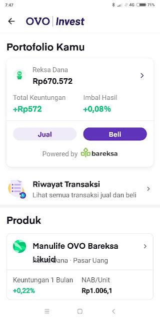investasi reksdana pasar uang ovo invest pas untuk freelance