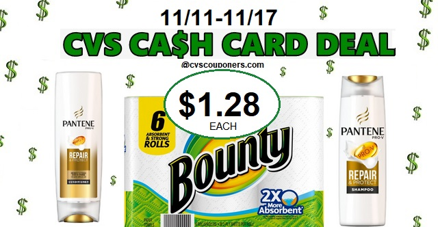 http://www.cvscouponers.com/2018/11/CVS-bounty-pantene-cash-card-deal-1111-1117.html