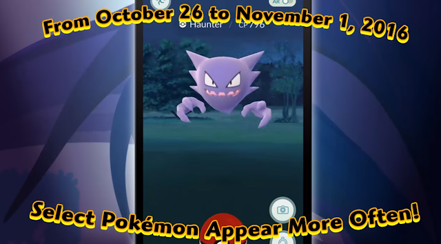 Event Pokemon GO Pertama, Sambut Perayaan Halloween, Apa itu spookiest pokemon, Event Pokemon GO 2016 Terbaru, Penjelasan Event Pokemon Go Halloween.
