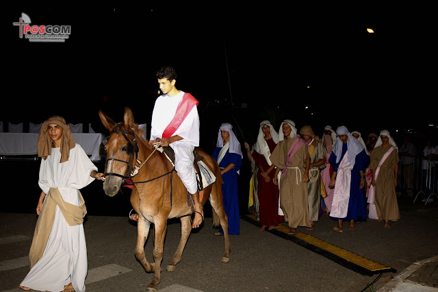 """Espetáculo """"Paixão de Cristo"""" em Eldorado-SP"""