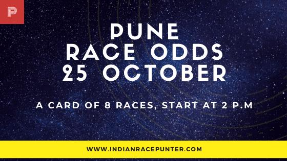 Pune Race Odds 25 October