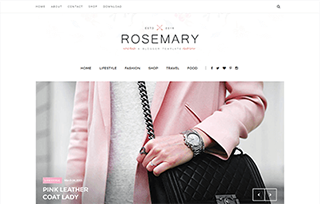 Rosemary Beauty Blogger Template