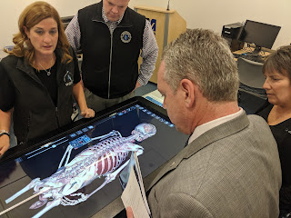 Rep Roy on his tour of UMass Medical in Nov 2019 as part of his visits to all 29 MA Commonwealth public colleges