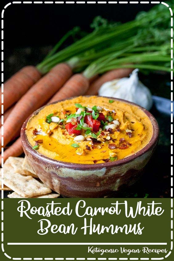 This delicious and healthy veggie snack is so easy to make and is something the whole fam Roasted Carrot White Bean Hummus